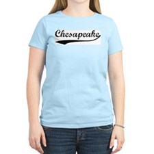 Vintage Chesapeake Women's Pink T-Shirt