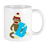 Sock Monkey Monogram Boy D Coffee Mug
