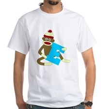 Sock Monkey Monogram Boy E Shirt