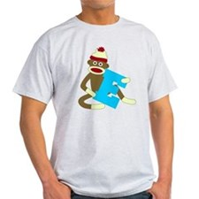Sock Monkey Monogram Boy E T-Shirt