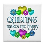 Quilting Happiness Tile Coaster