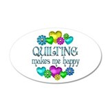 Quilting Happiness 38.5 x 24.5 Oval Wall Peel