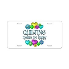 Quilting Happiness Aluminum License Plate