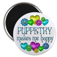 """Puppetry Happiness 2.25"""" Magnet (100 pack)"""