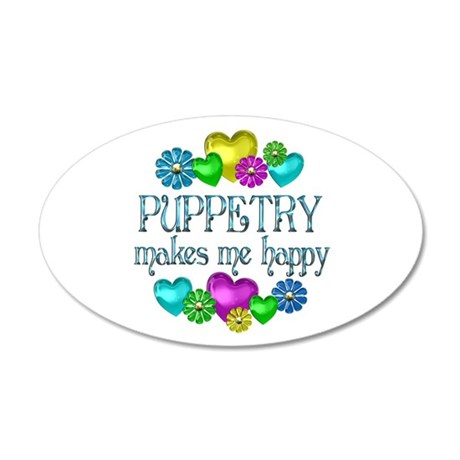 Puppetry Happiness 22x14 Oval Wall Peel