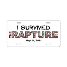 """I Survived The Rapture"" Aluminum Licens"