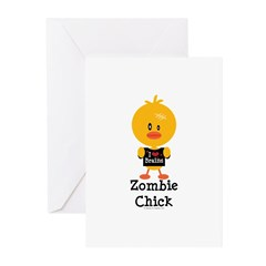 Zombie Chick Greeting Cards (Pk of 10)