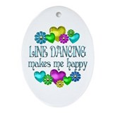 Line Dancing Ornament (Oval)