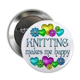 "Knitting Happiness 2.25"" Button"