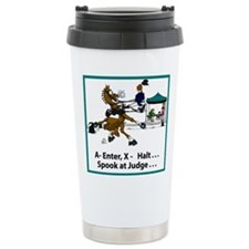 Dressage Horse Spook Ceramic Travel Mug