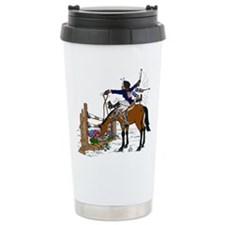 Horse at Flower Box Ceramic Travel Mug
