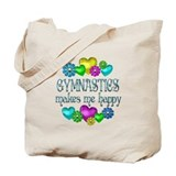 Gymnastics Happiness Tote Bag