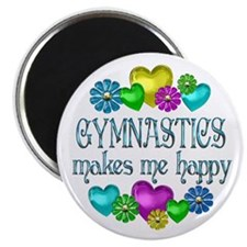 "Gymnastics Happiness 2.25"" Magnet (10 pack)"