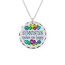 Gymnastics Happiness Necklace Circle Charm