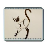 Standing Siamese Kitty Mousepad