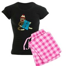 Sock Monkey Monogram Boy H Pajamas