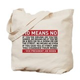 No Means No Tote Bag