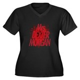 Mrs. Dexter Morgan Women's Plus Size V-Neck Dark T