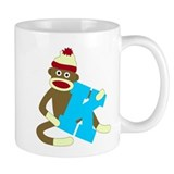 Sock Monkey Monogram Boy K Coffee Mug