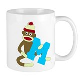 Sock Monkey Monogram Boy M Coffee Mug