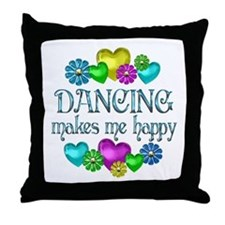 Dancing Happiness Throw Pillow