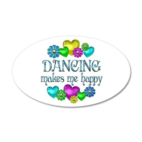 Dancing Happiness 38.5 x 24.5 Oval Wall Peel