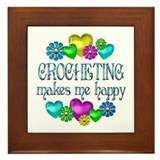 Crocheting Happiness Framed Tile