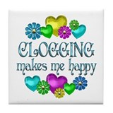 Clogging Happiness Tile Coaster