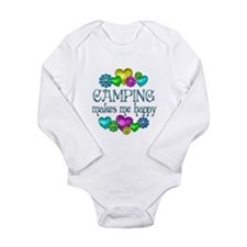 Camping Happiness Long Sleeve Infant Bodysuit