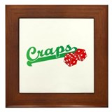 I Love Craps Framed Tile