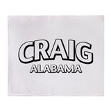 Craig Alabama Throw Blanket