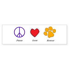 Peace Love Rescue Bumper Bumper Sticker