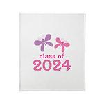 2024 Girls Graduation Throw Blanket