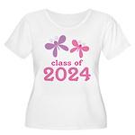 2024 Girls Graduation Women's Plus Size Scoop Neck