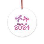 2024 Girls Graduation Ornament (Round)