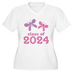 2024 Girls Graduation Women's Plus Size V-Neck T-S