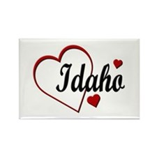 Love Idaho Hearts Rectangle Magnet