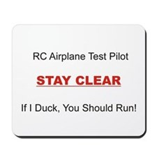 RC Airplane Test Pilot Mousepad