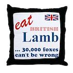 Slam in the Lamb Throw Pillow