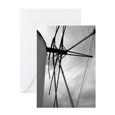 Unique Windmill Greeting Card