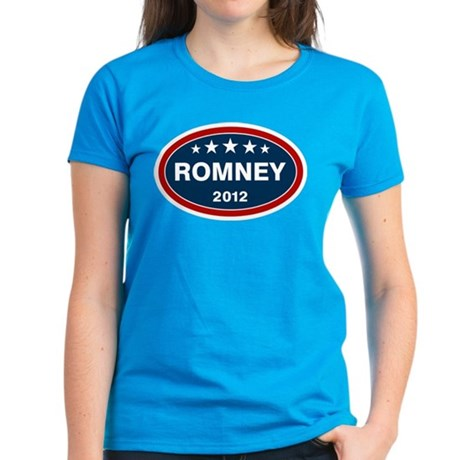 Romney 2012 [blue] Women's Dark T-Shirt