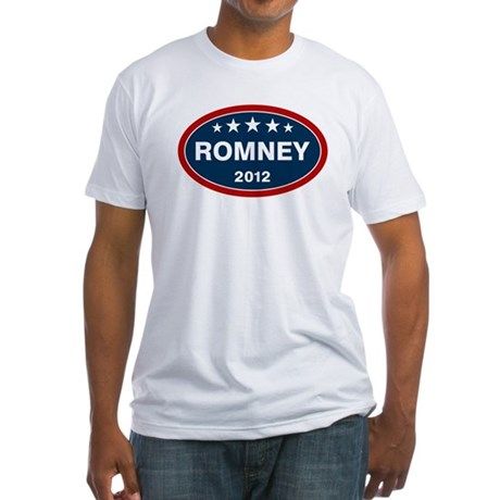 Romney 2012 [blue] Fitted T-Shirt
