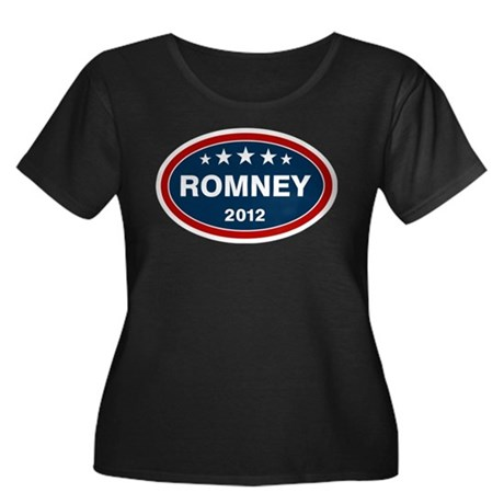 Romney 2012 [blue] Women's Plus Size Scoop Neck Da