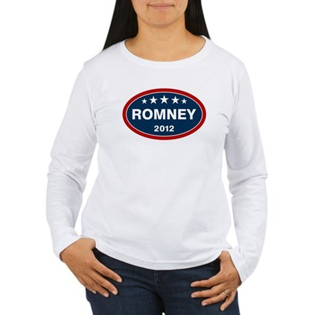 Romney 2012 [blue] Women's Long Sleeve T-Shirt