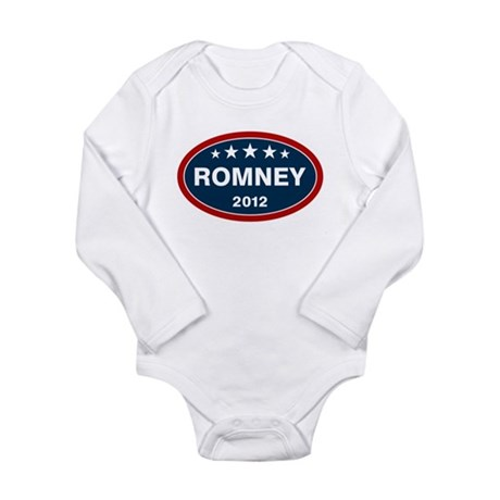 Romney 2012 [blue] Long Sleeve Infant Bodysuit