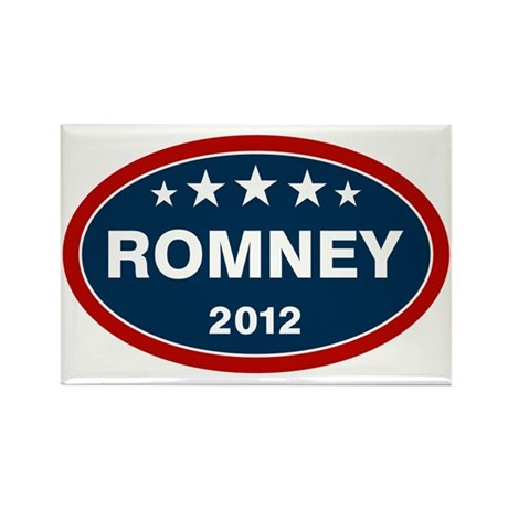 Romney 2012 [blue] Rectangle Magnet (100 pack)