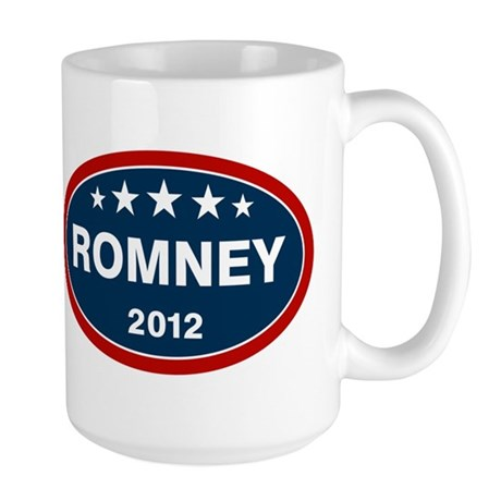 Romney 2012 [blue] Large Mug