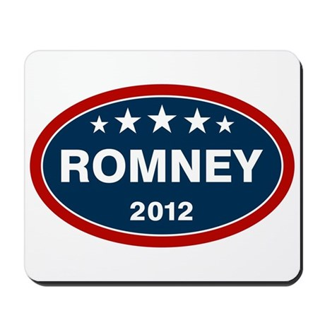 Romney 2012 [blue] Mousepad