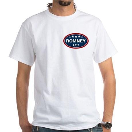 Romney 2012 [blue] White T-Shirt