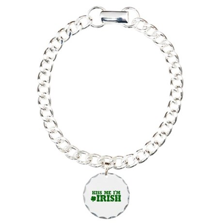 Kiss Me I'm Irish Charm Bracelet, One Charm